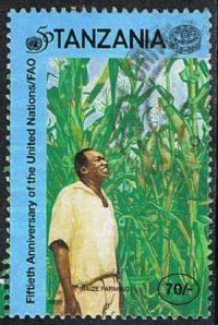 Tanzania SG2064 1995 UN Food and Agriculture Organisation 70/- good/fine used